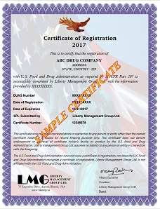 FDA Certificate - Drug Registration